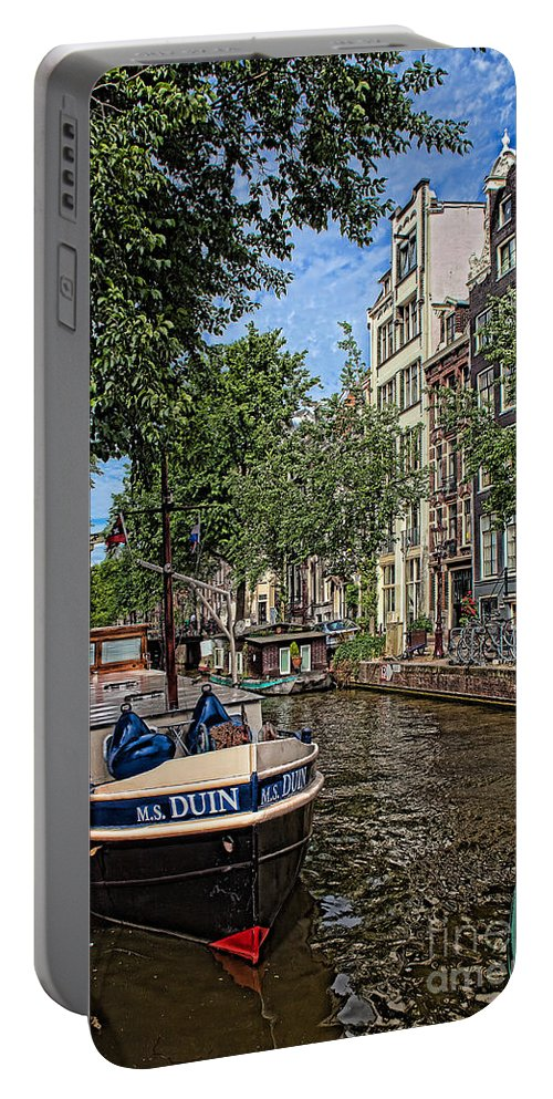 Amsterdam Portable Battery Charger featuring the photograph Summer In Amsterdam-1 by Casper Cammeraat