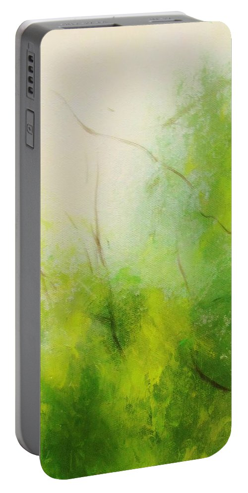 Landscape Portable Battery Charger featuring the digital art Summer In The Air by Anahid Minatsaghanian
