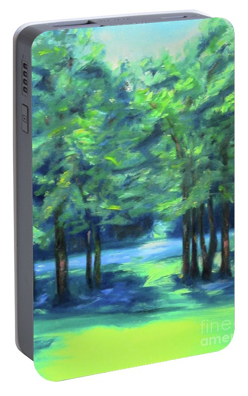 Art Portable Battery Charger featuring the painting Summer by Karen Francis