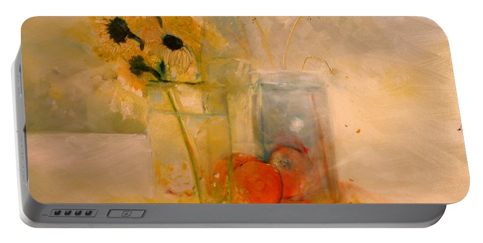Daisey Portable Battery Charger featuring the painting Summer Light by Jack Diamond