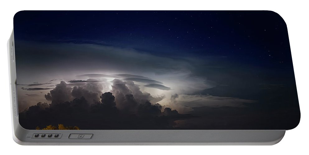 Storms Portable Battery Charger featuring the photograph Summer Night Storms by Daniel Valentin