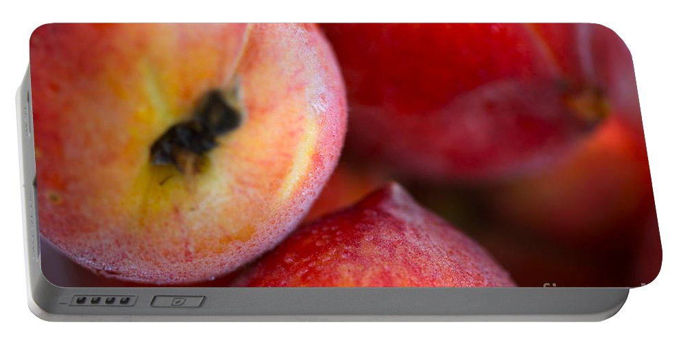 Peach Portable Battery Charger featuring the photograph Summer Peaches by Nadine Rippelmeyer