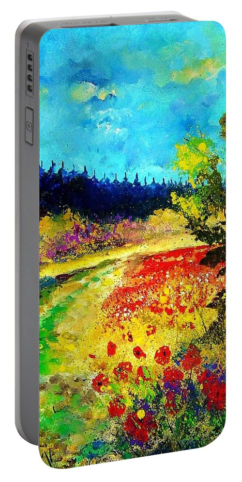 Flowers Portable Battery Charger featuring the painting Summer by Pol Ledent