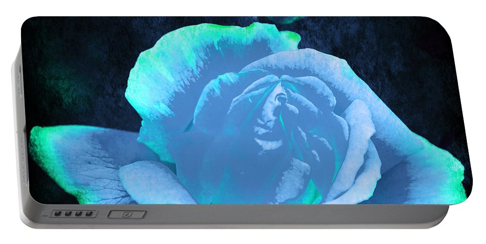 Rose Portable Battery Charger featuring the photograph Summer Rose 3 V4 by Alex Art and Photo