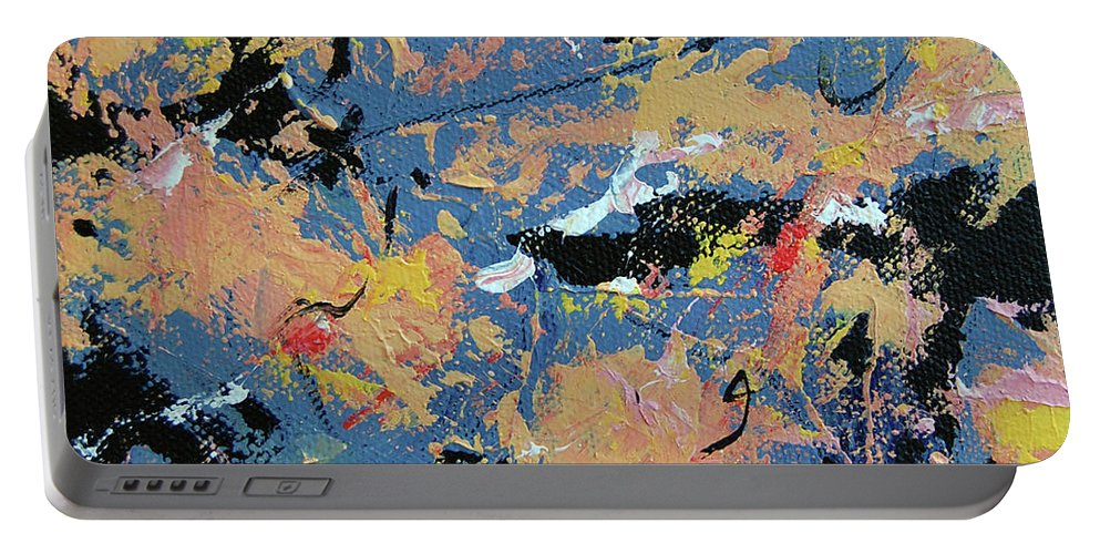 Abstract Portable Battery Charger featuring the painting Summer Storm by Dave Jones