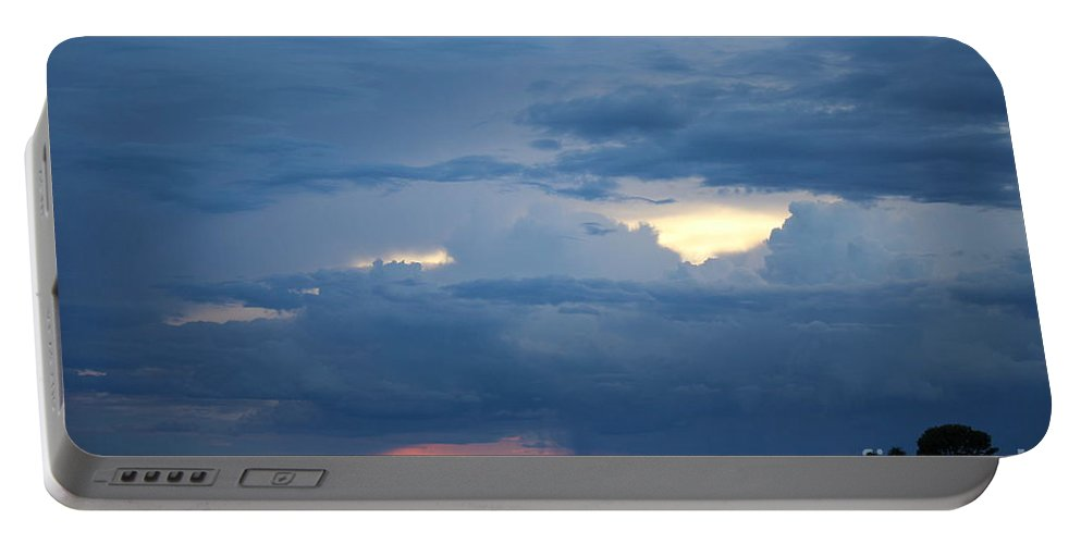 Storm Portable Battery Charger featuring the photograph Summer Storm Moving In Corinna Maine by Colleen Snow