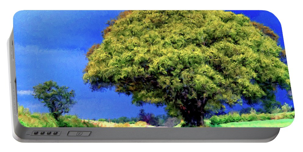 Country Road Portable Battery Charger featuring the painting Summer Thunder by Dominic Piperata