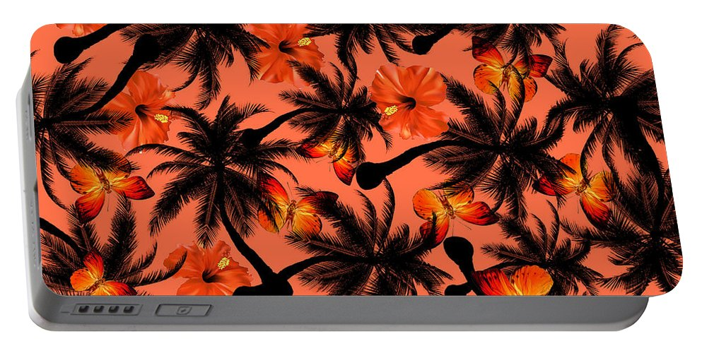 Cherry Portable Battery Charger featuring the painting Summer Time 2 by Mark Ashkenazi