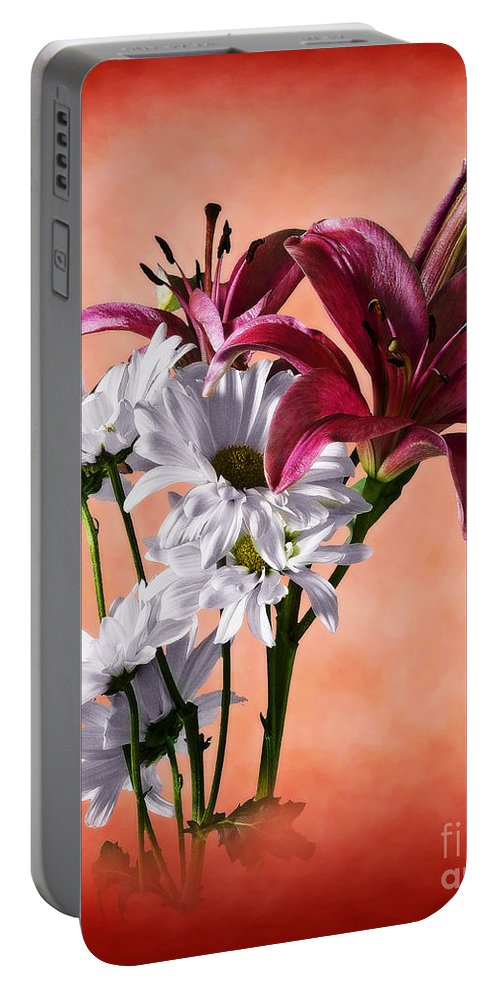 Botanical Portable Battery Charger featuring the photograph Summer Wild Flowers by Ed Churchill