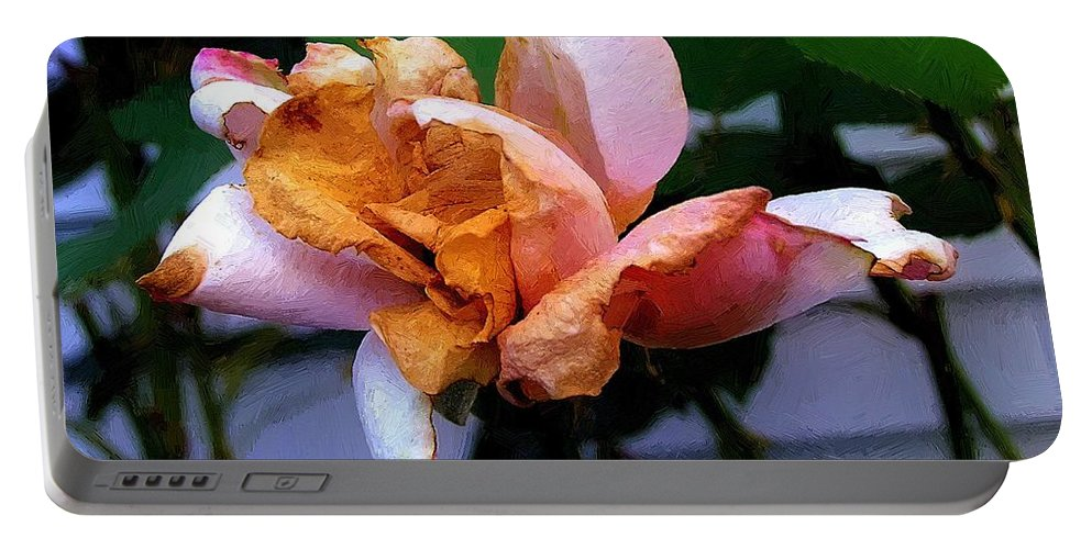 Decay Portable Battery Charger featuring the painting Summer's Passing by RC DeWinter