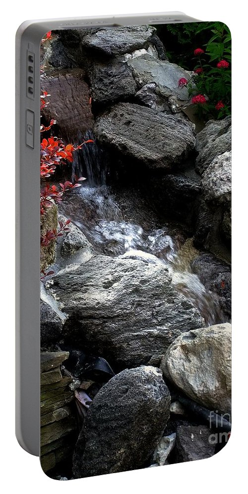 Waterfall Portable Battery Charger featuring the photograph Summersplash by RC DeWinter