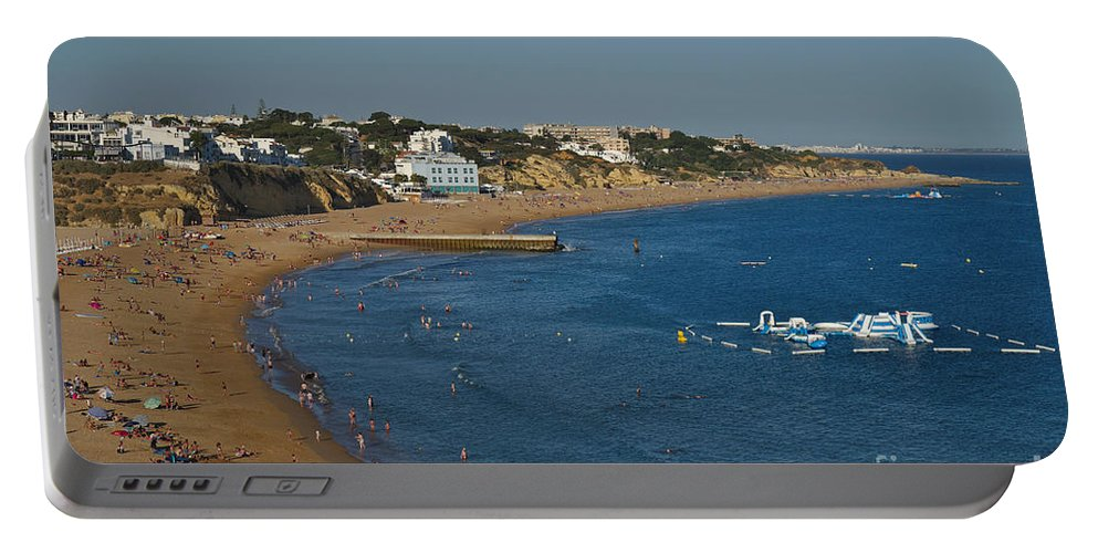 Praia Dos Pescadores Portable Battery Charger featuring the photograph Summertime In Albufeira by Angelo DeVal