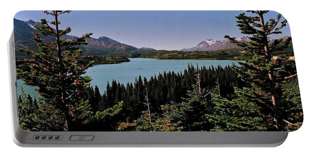 North America Portable Battery Charger featuring the photograph Tagish Lake - Yukon by Juergen Weiss