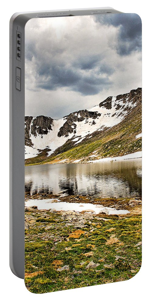 Summit Lake Portable Battery Charger featuring the photograph Summit Lake Study 3 by Robert Meyers-Lussier