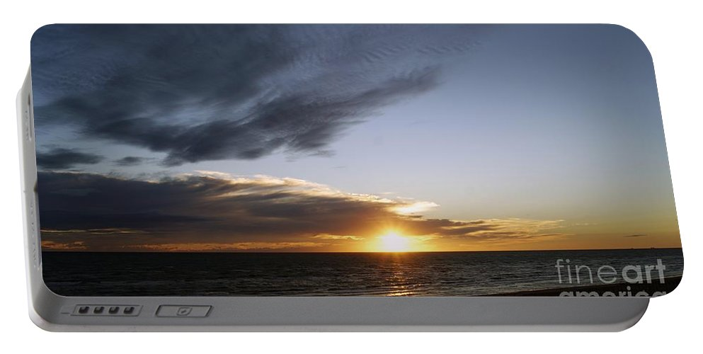 Sun And Clouds Portable Battery Charger featuring the photograph Sun And Clouds by LDS Dya