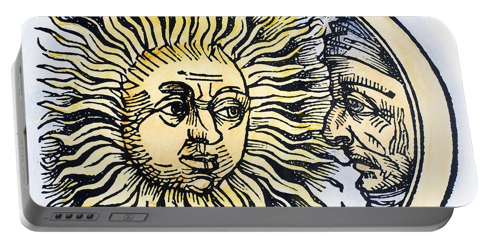 1493 Portable Battery Charger featuring the photograph Sun And Moon, 1493 by Granger