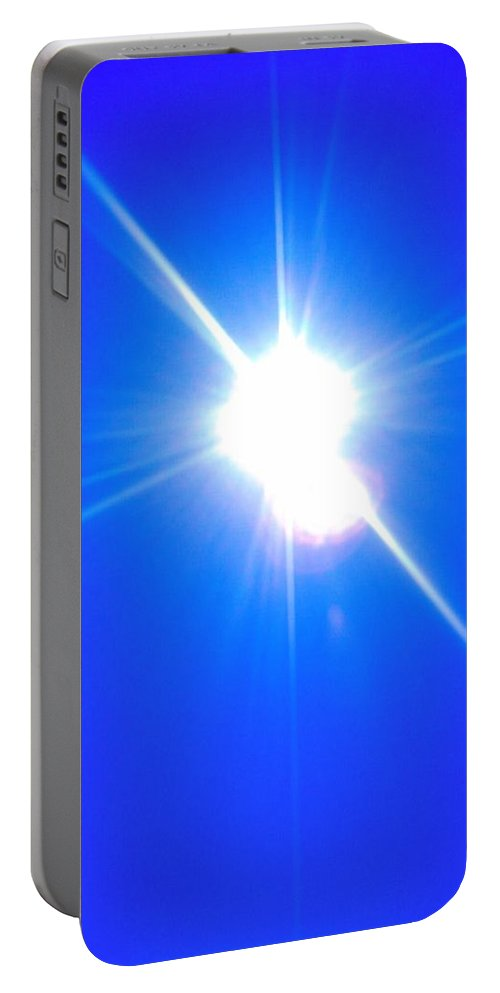Akers Portable Battery Charger featuring the photograph Sun And Sky Over The St. Jons II by Edmund Akers