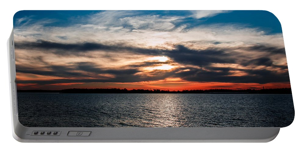 Horizontal Portable Battery Charger featuring the photograph Sun Going Down by Doug Long