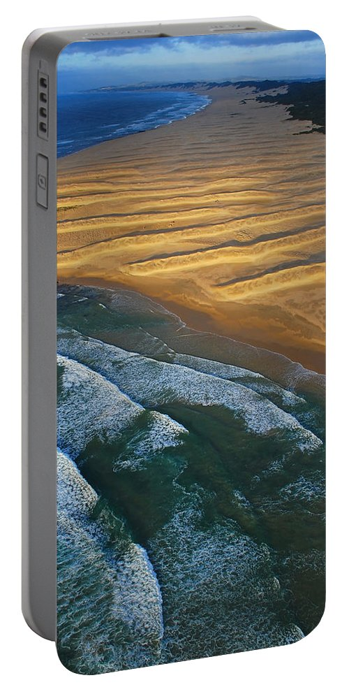 Coast Portable Battery Charger featuring the photograph Sun Rise Coast by Skip Hunt