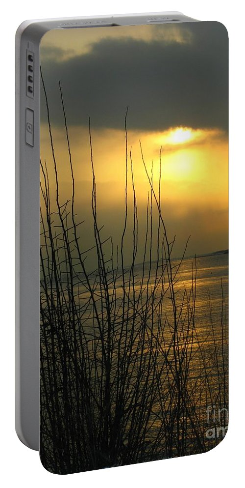 Eastern Point Portable Battery Charger featuring the photograph Sun Setting From Eastern Point by Kathleen Staab