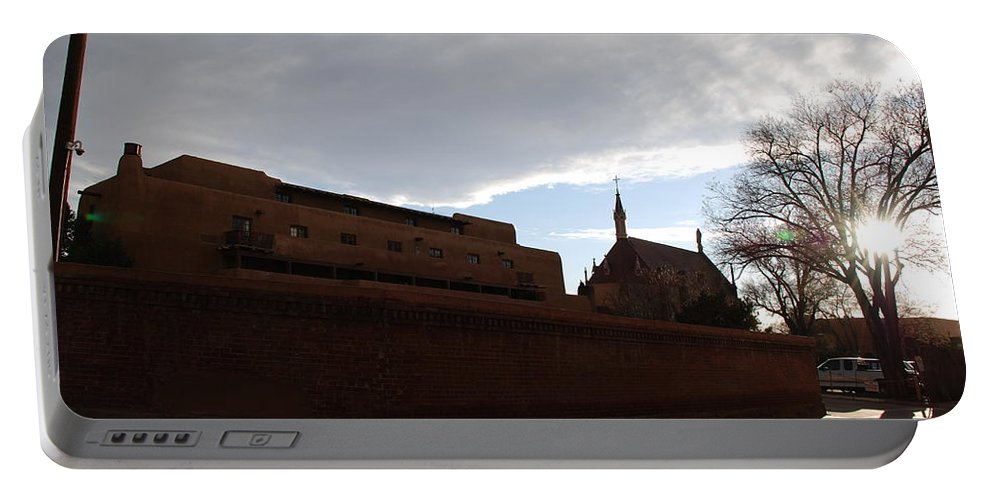 New Mexico Portable Battery Charger featuring the photograph Sun Thru The Trees by Rob Hans