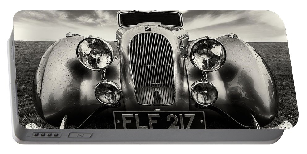 Car Portable Battery Charger featuring the photograph Sunbeam Talbot Darracq by Adrian Evans