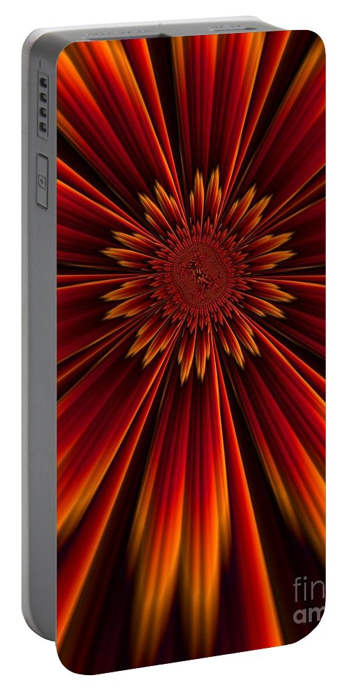 Sunburst Portable Battery Charger featuring the digital art Sunburst by John Edwards