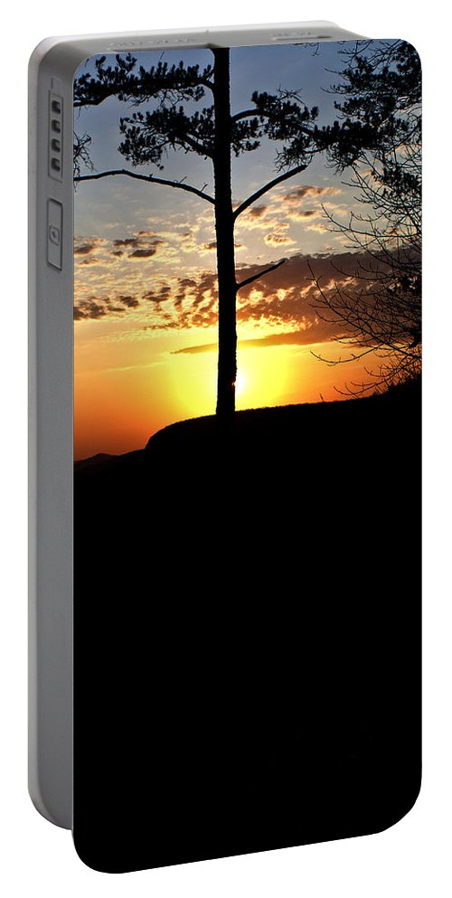 Sunburst Portable Battery Charger featuring the photograph Sunburst Sunset by Douglas Barnett