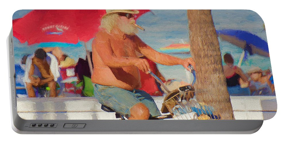 Man Portable Battery Charger featuring the painting Sunday Afternoon by Judy Kay