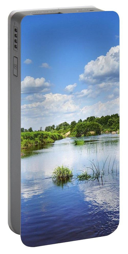 Landscape Portable Battery Charger featuring the photograph Sunday River by Vadzim Kandratsenkau