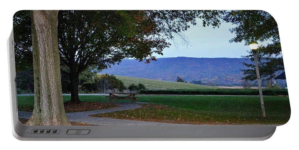 Landscape Portable Battery Charger featuring the photograph Sundown At Blue Ridge by Eileen Brymer