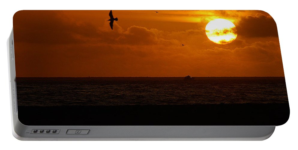 Clay Portable Battery Charger featuring the photograph Sundown Flight by Clayton Bruster