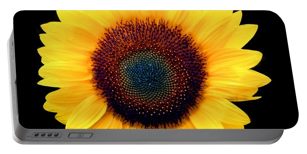 Flower Portable Battery Charger featuring the photograph Sunflower by Bob Slitzan
