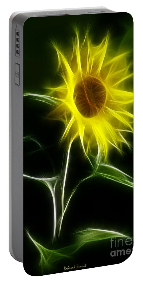 Sunflower Portable Battery Charger featuring the photograph Sunflower Display by Deborah Benoit
