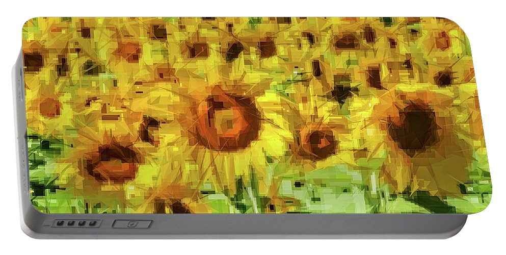Alicegipsonphotographs Portable Battery Charger featuring the photograph Sunflower Edges by Alice Gipson
