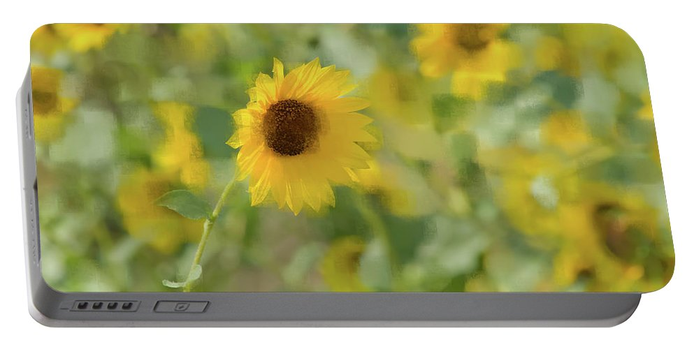 Sunflower Portable Battery Charger featuring the photograph Sunflower Field by Betty LaRue