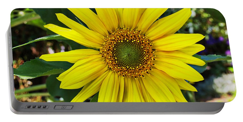 Sunflower Portable Battery Charger featuring the digital art Sunflower by Sterling Haidt