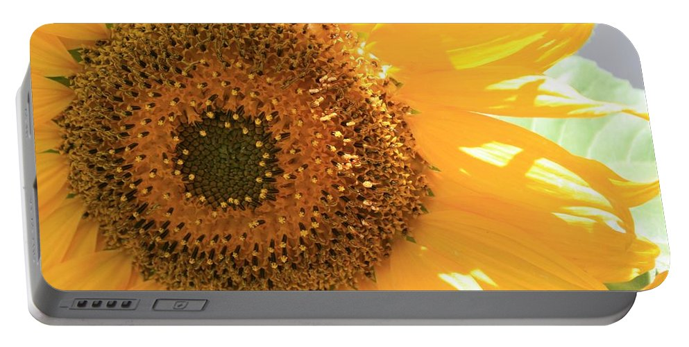 Sunflower Portable Battery Charger featuring the photograph Sunflowers by Marna Edwards Flavell