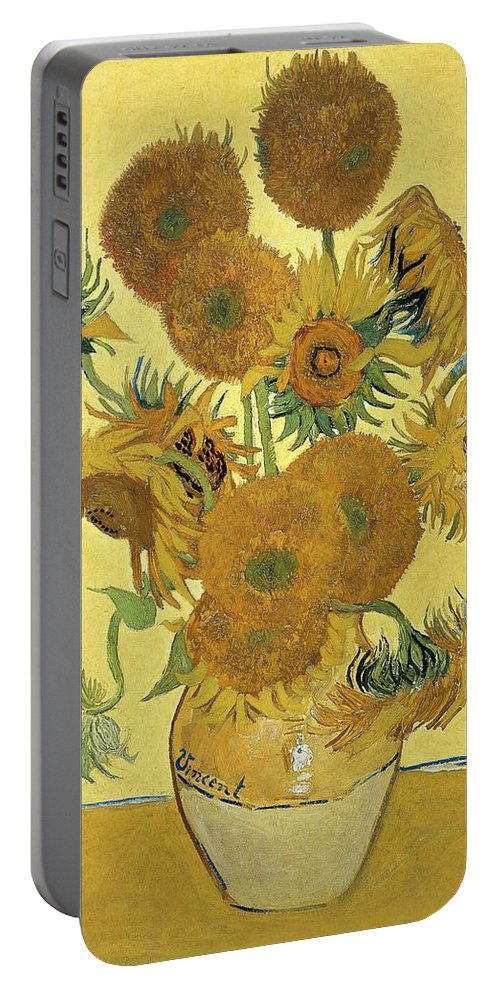 Sunflowers Portable Battery Charger featuring the painting Sunflowers, 1888 by Vincent Van Gogh