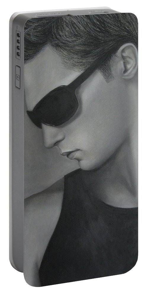 Man Portable Battery Charger featuring the painting Sunglasses by Lynet McDonald