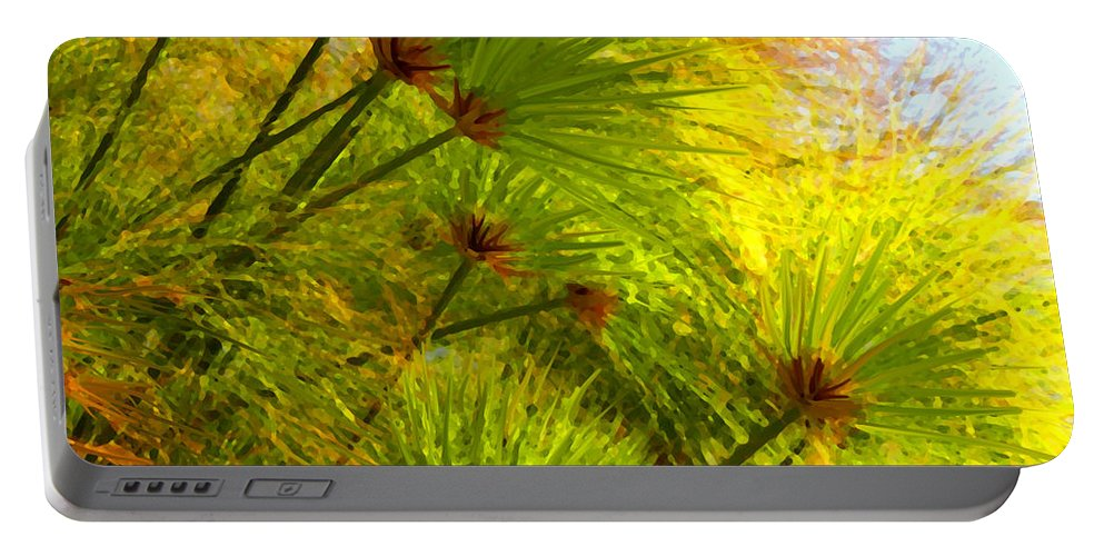 Landscape Portable Battery Charger featuring the painting Sunlit Paparus by Amy Vangsgard