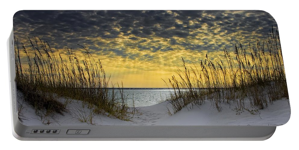 Coast Portable Battery Charger featuring the photograph Sunlit Passage by Janet Fikar