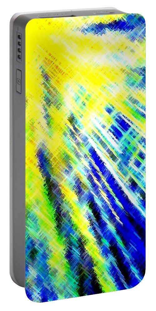 Abstract Portable Battery Charger featuring the digital art Sunny Days by Will Borden