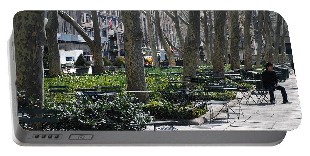 Parks Portable Battery Charger featuring the photograph Sunny Morning In The Park by Rob Hans