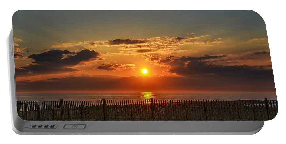 Sunrise Portable Battery Charger featuring the photograph Sunrise - Asbury Park by Bill Cannon
