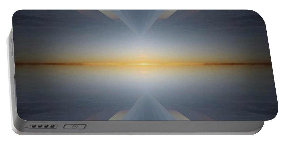 Sunrise Portable Battery Charger featuring the digital art Sunrise At 30k 5 by Tim Allen