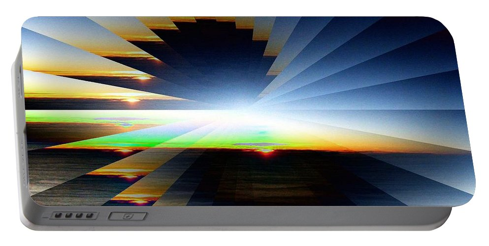 Sunrise Portable Battery Charger featuring the photograph Sunrise At 30k 6 by Tim Allen