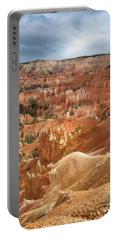 Bryce Canyon Portable Battery Charger featuring the digital art Sunrise At Bryce by Anita Hubbard