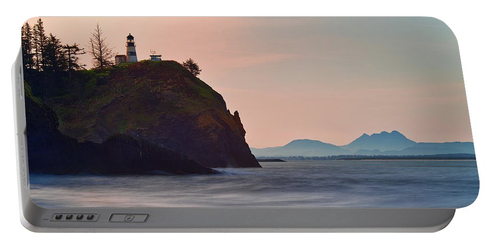 Washington State Portable Battery Charger featuring the photograph Sunrise At Cape Disappointment by Manuela Durson
