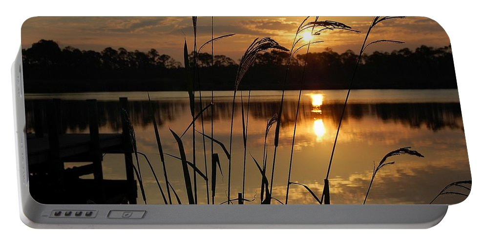 Sunrise Portable Battery Charger featuring the photograph Sunrise At Grayton Beach by Robert Meanor